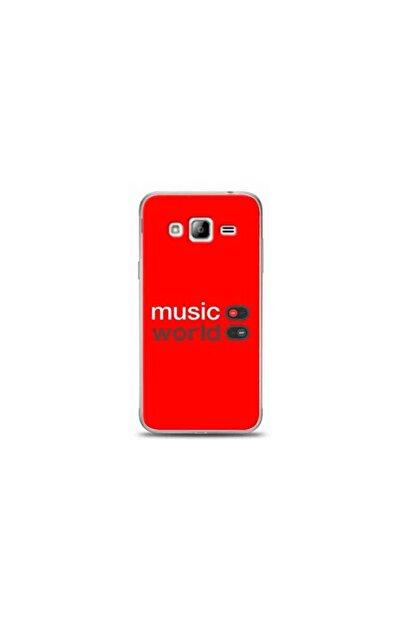 Kılıf Madeni Samsung Galaxy J3 Veya J3 2016 Music Kırmızı Koleksiyon Telefon Kılıf Y-krmklf058