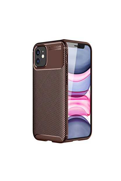 KNY Apple Iphone 12 Kılıf Karbon Desenli Lux Negro Silikon+cam Ekran Koruyucu