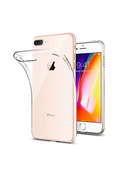 Zengin Çarşım Apple İphone 7-8 - SE 2020 Toz Koruma Tıpalı Ultra İnce Şeffaf Silikon Kılıf