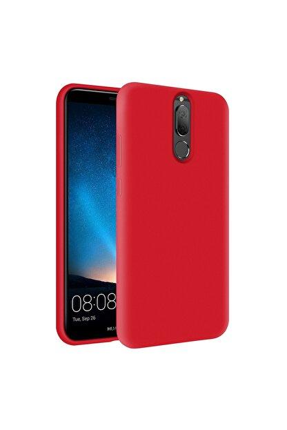 KZY İletişim Huawei Mate 10 Lite Içi Kadife Soft Logosuz Lansman Silikon Kılıf - Kırmızı