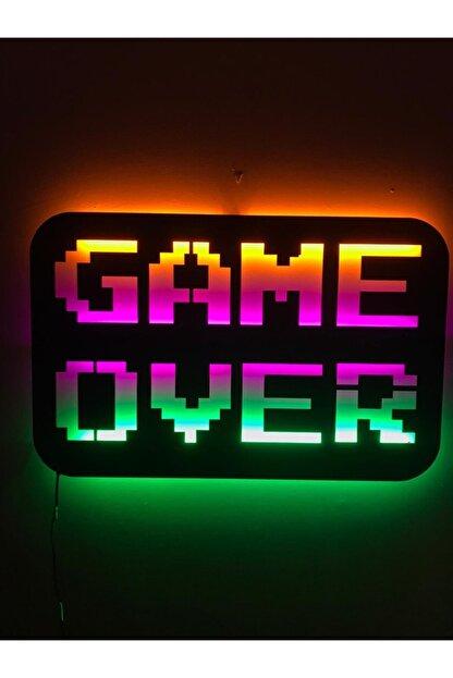 dekoraven Game Over Led Işıklı Tablo