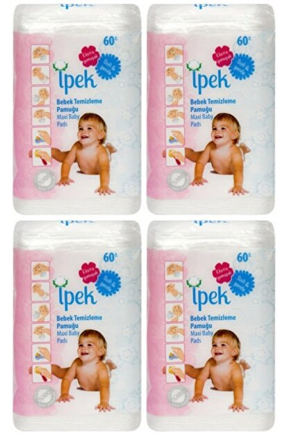 İpek Maxi Bebek Temizleme Pamugu 60 Li 4 Paket