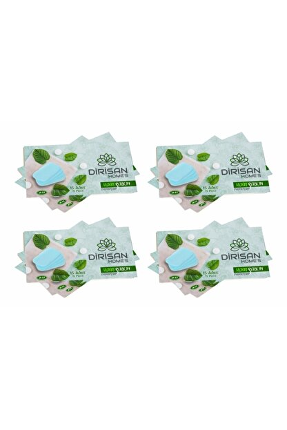 dirisan home's Antibakteriyel Tek Kullanımlık Kağıt Sabun 4paketx15adet= 60 Adet