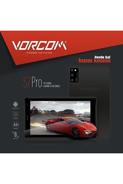 vorcom S7pro 7''tft Ekran 4 Gb Ram 64 Gb Hafıza Tablet Pc