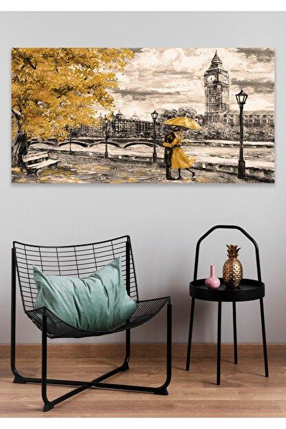 Hediyeler Kapında Romantik Sonbahar Duvar Kanvas Tablo 60x100cm