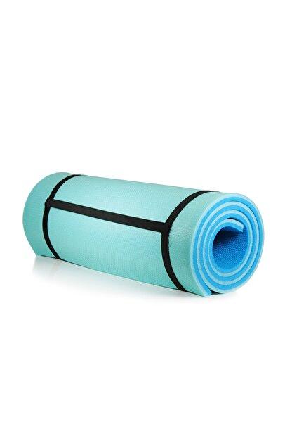 Walke 16 Mm Pilates Kamp Matı Mavi Açık Mavi Taşıma Askılı