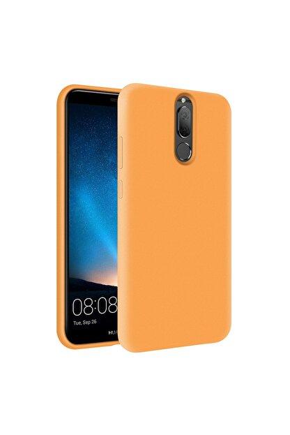 KZY İletişim Huawei Mate 10 Lite Içi Kadife Soft Logosuz Lansman Silikon Kılıf - Turuncu