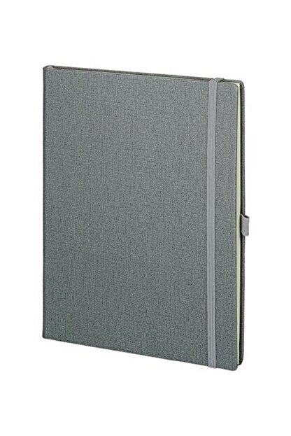 Pulko Promosyon Klasik 192 Sayfa, 19 X 25 Cm, Termo Deri Kapak, Düz, Not Defteri, Gri