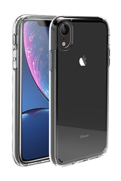 KNY Apple Iphone Xr Kılıf Şeffaf Kamera Korumalı Silikon Ve Cam Ekran Koruyucu