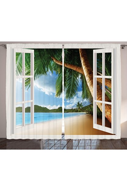 Orange Venue Manzara Perde Cennet Manzaralı Pencere