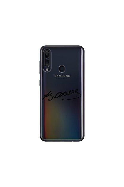 cupcase Samsung Galaxy A20s Kılıf Desenli Esnek Silikon Telefon Kabı Kapak - Atatürk Imza