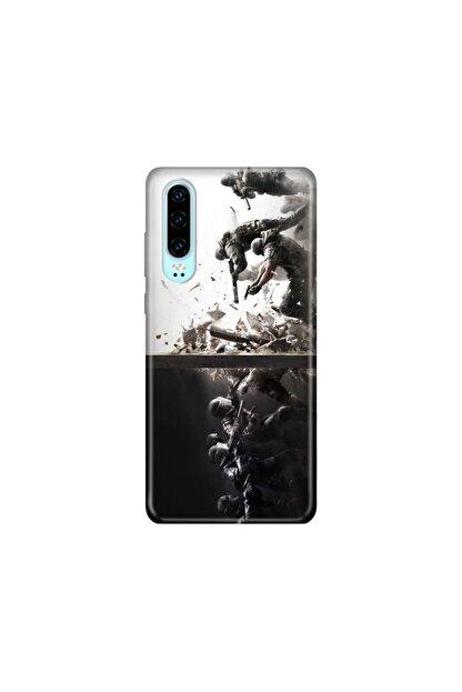 cupcase Huawei P30 Kılıf Desenli Esnek Silikon Telefon Kabı Kapak - Tom Clancy