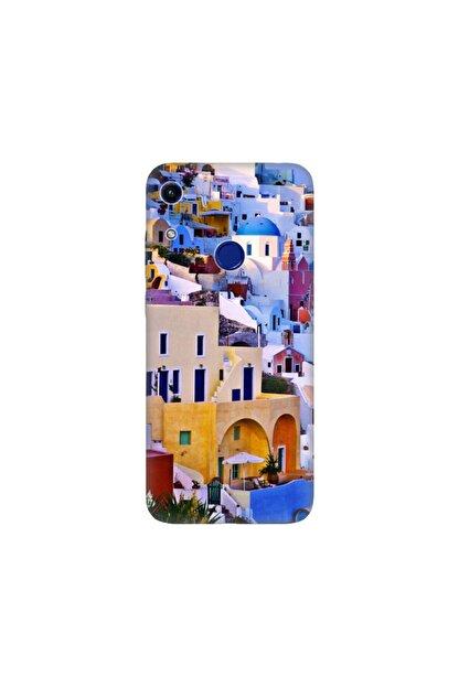 cupcase Huawei Honor 8a Kılıf Desenli Esnek Silikon Telefon Kabı Kapak - Santorini