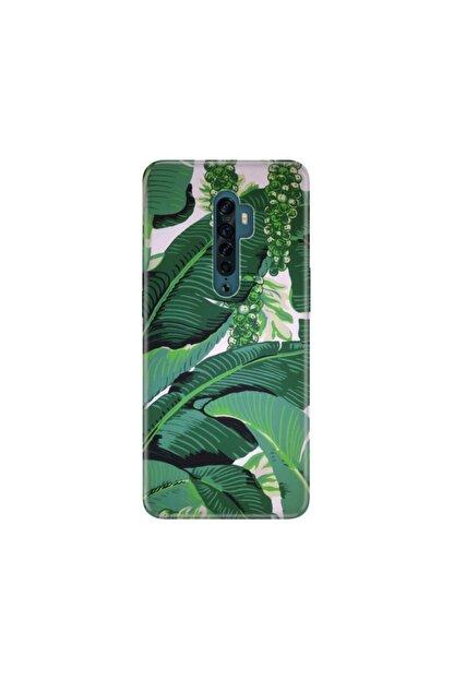 cupcase Oppo Reno2 Z Kılıf Desenli Esnek Silikon Telefon Kabı Kapak - Yeşil Üzüm