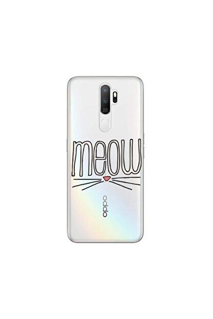cupcase Oppo A9 2020 Kılıf Desenli Esnek Silikon Telefon Kabı Kapak - Meow