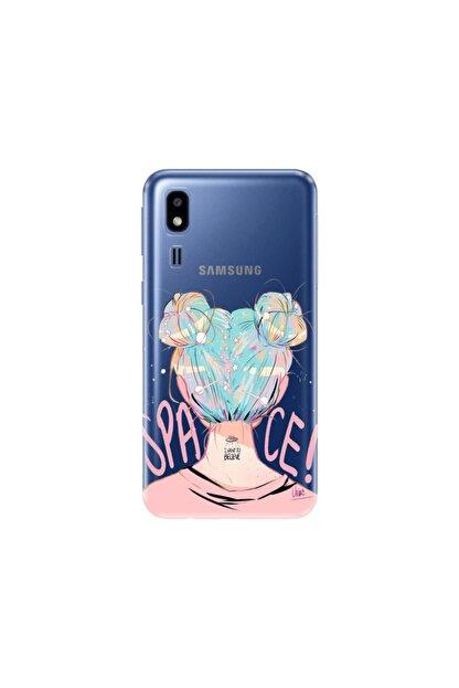 cupcase Samsung Galaxy A2 Core Desenli Esnek Silikon Telefon Kabı Kapak - Uzaydan Gelen Kız