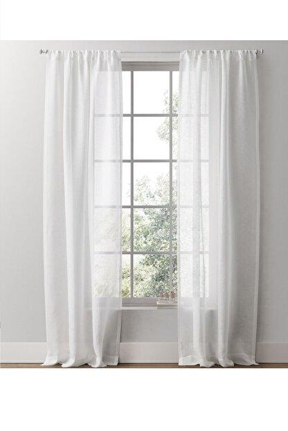 Evdepo Home Hazır Keten Tül Perde - Kırık Beyaz