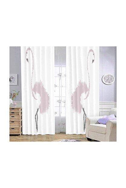 Bebişim Halı Flamingo Bi58  Çocuk Odası Fon Perde 140x275 cm