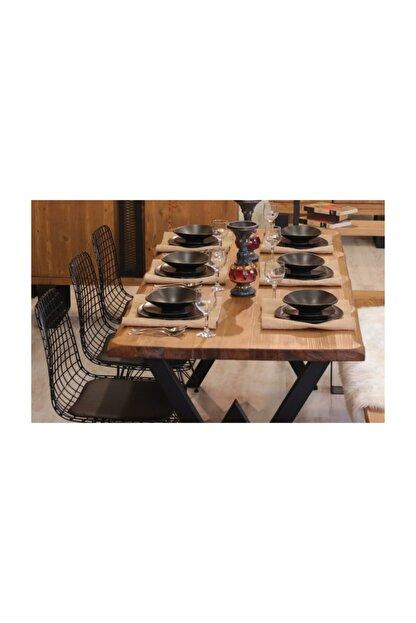 NT Concept Masif Ağaç Yemek Masası - 85cm-185cm Masa
