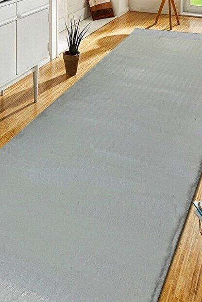 Sarar Post Halı Beyaz 80x200 cm Yüksek Kalite Kaymaz Taban Saçaklı Halı