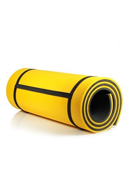 Walke 16 Mm Pilates Kamp Matı Sarı Siyah Taşıma Askılı