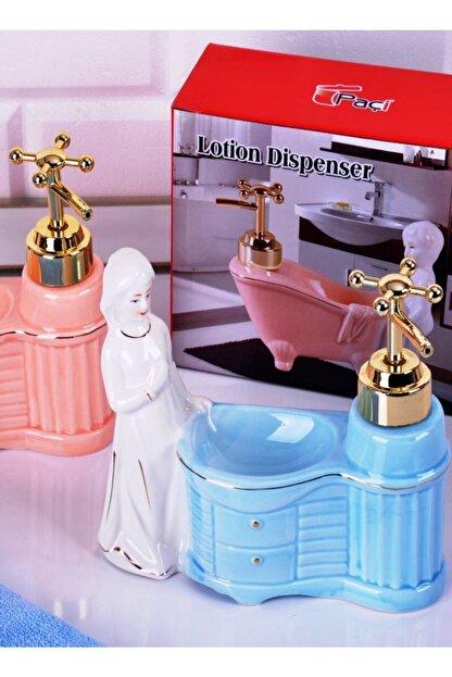 Paçi Porselen Biblolu Büyük Sıvı Sabunluk P/bny-500234