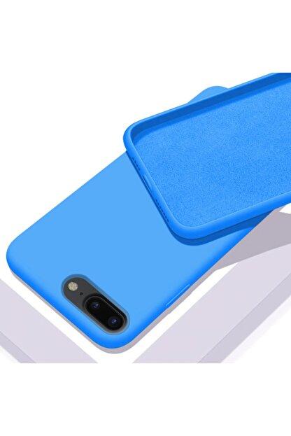 Zengin Çarşım Apple Iphone 7 Plus - 8 Plus Içi Kadife Lansman Silikon Kılıf Mavi