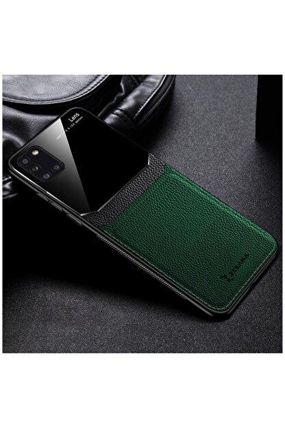Dara Aksesuar Samsung Galaxy A31 Zebana Lens Deri Yeşil Kılıf