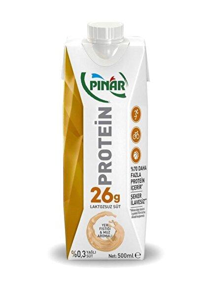 Pınar Proteinli Yerfıstık Muz Laktozsuz Süt 500 Ml