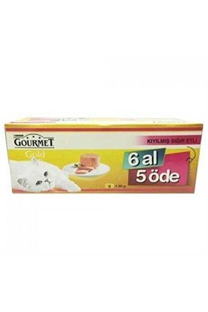 Gourmet Gold Kıyılmış Sığır Etli Kedi Konservesi 6 Al 5 Öde 6x85 Gr.
