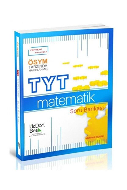 Üç Dört Beş Yayıncılık Tyt Matematik Soru Bankası 2021 Model Yeni 345
