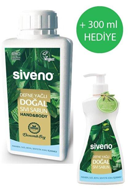 Siveno Defne Yağlı Doğal 1 Lt Sıvı Sabun 300 Ml Defne Yağlı Sıvı Sabun Hediyeli