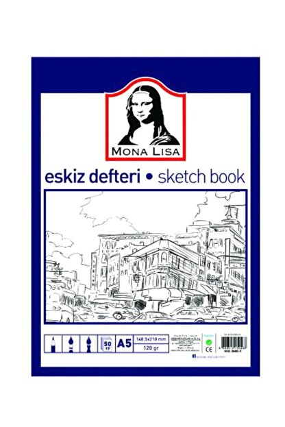 Südor Mona Lisa Eskiz Defteri (sketch Book) A5 120 Gr. 50 Yp.