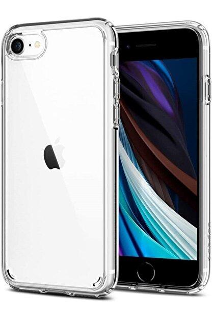 Mobilteam Apple Iphone 7 Kılıf Şeffaf Süper Silikon Kapak