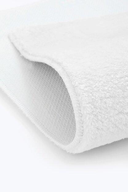 Dijidekor Beyaz Post Dokuma Halı Peluş Yumuşacık Kaymaz Antibakteriyel