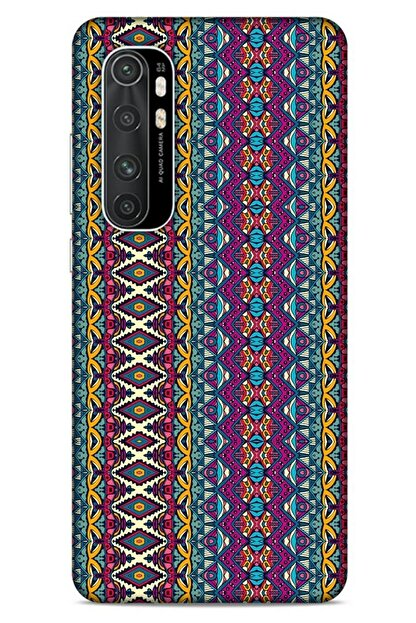 Lopard Ethnic Culture (95) Xiaomi Mi Note 10 Lite Kılıf Silikon Kapak Desenli