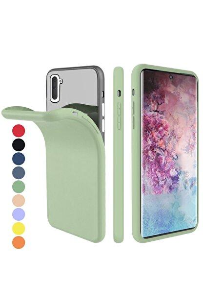 Zipax Samsung Galaxy Note 10 Kılıf -anano Soft Pürüzsüz Renkli Silikon - Yeşil