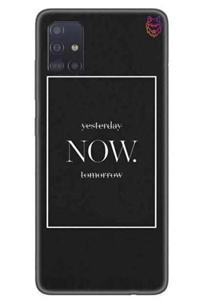 Wolf Dizayn Samsung Galaxy A51 - Siyah Silikon - Now