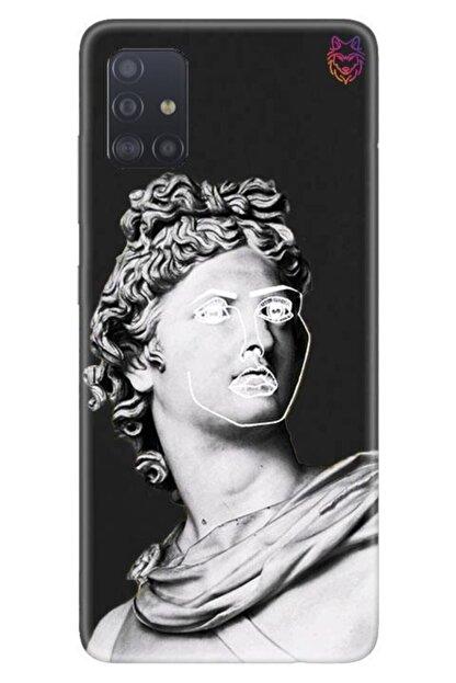 Wolf Dizayn Samsung Galaxy A51 - Siyah Silikon - Statue 2