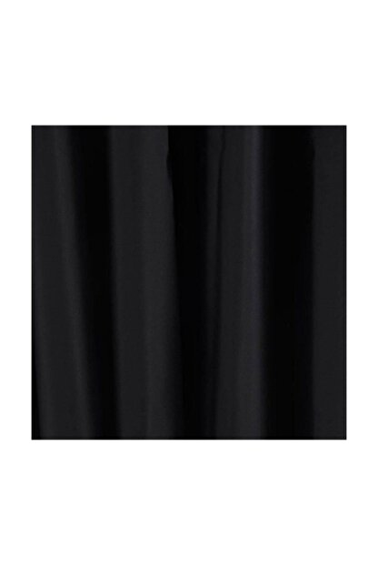 Taç Blackout Karartma Fon Perde Ekstraforlu Düz Dikiş - Siyah 200x260
