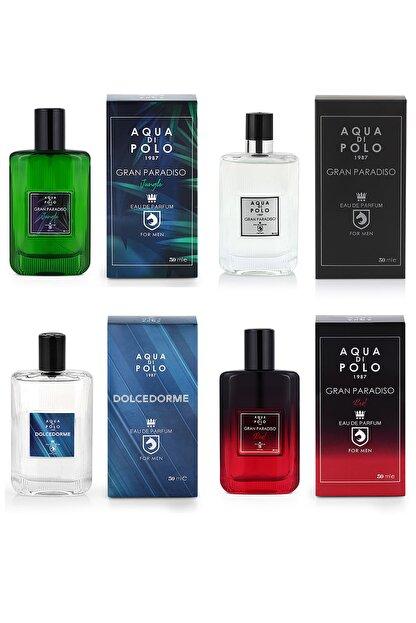 Aqua Di Polo 4'lü Gran Parasido Red +gran Parasido + Gran Parasido Jungle+ Dolcedorme Edp  200 Ml  Erkek Parfüm