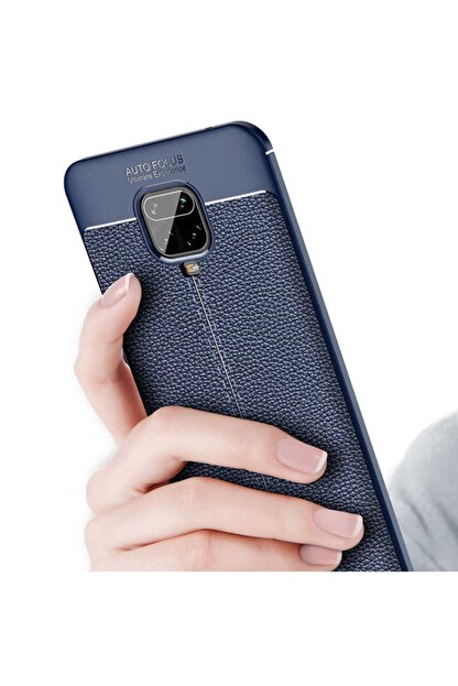 Teknoloji Adım Redmi Note 9s Deri Görünümlü Silikon Kılıf Lacivert