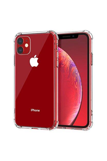 coverest Apple Iphone 11 6.1'' Ince Şeffaf Airbag Anti Şok Silikon Kılıf