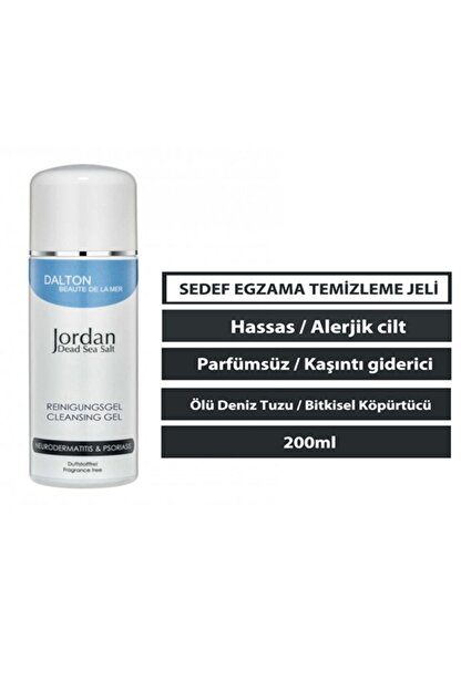 DALTON MARİNE COSMETİCS Jordan Dead Sea Salt Atopik Dermatit Sedef Egzama Temizleme Jeli