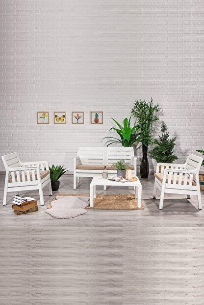 SANDALİE Lara 2 1 1 S Balkon&teras Bahçe Mobilyası / Beyaz