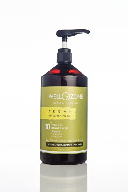 inlor Tuzsuz Parabensiz Şampuan Ozonlu Organik Sawpalmetto Etkili Argan Wellozone 1000ml