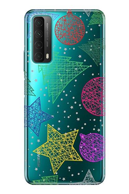 cupcase Huawei P Smart 2021 Kılıf Esnek Silikon Telefon Kabı Kapak - Noel Yıldız