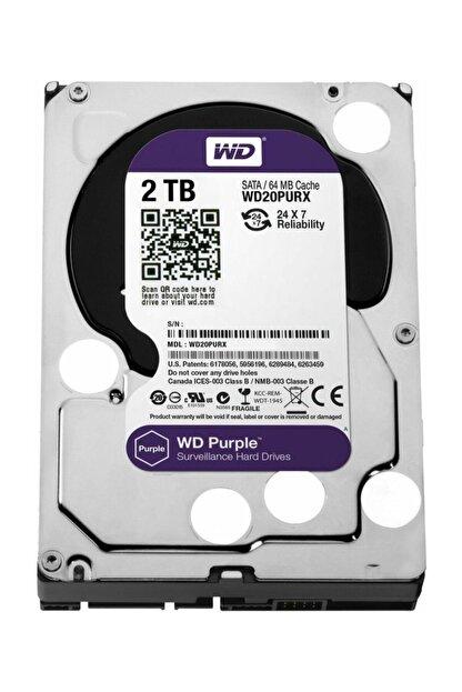 """Seagate Wd Purple 2tb 3,5"""" Sata Iıı 6gbit/s 64mb 7/24 Güvenlik Kamerası Diski Wd20purx"""