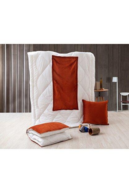 dhinchers Tek Kişilik Microfiber Kumaşlı Çok Amaçlı Sürpriz Yorgan (150x200) Yastık Sürpriz Yorgan