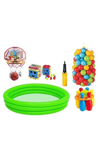Fırsat Oyuncak Havuz Bowling Bultak Basketbol Pota 100 Havuz Topu Set
